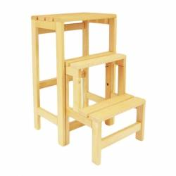 Escabeau tabouret transformable 2 marches + tablette