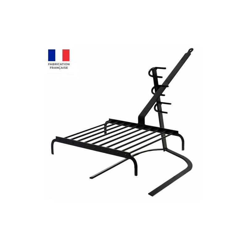 Support et grille Luxy pour cheminée ou barbecue: