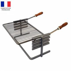 Support et grille Luxy pour cheminée ou barbecue